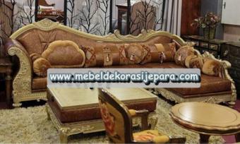Sofa tamu sudut ukir modern