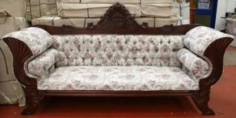 Sofa ukir kerang jati