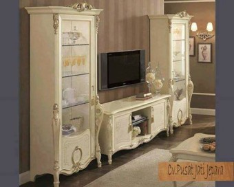 Buffet & Almari crystal living room duco