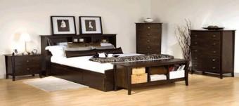 Kamar set minimalis brown jati