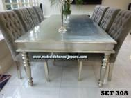 Meja makan antique silver