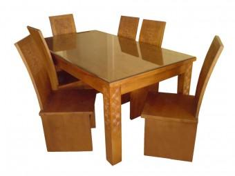 meja makan minimalis full blok