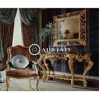meja konsul luxury gold italian