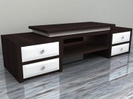 Buffet minimalis laci black white