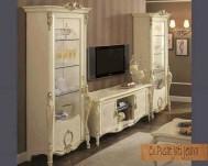 Buffet & Almari crystal living room duco