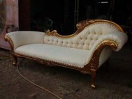Sofa lois gold white