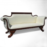 Sofa lengkung mahogany