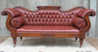 Sofa ukir jati lengkung