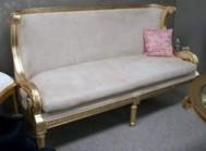Sofa gold modern