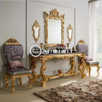 Meja konsul classic gold bellagio