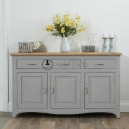 Meja Drawer Casandra Modern Grey